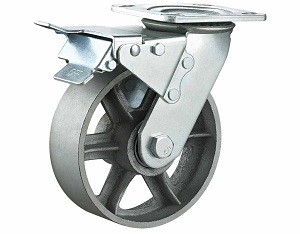 Heavy Duty Casters with Cast Iron Wheel Swivel Plate with